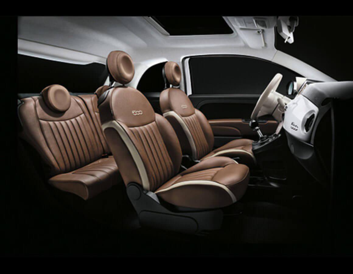 Sedili ed interni Fiat 500