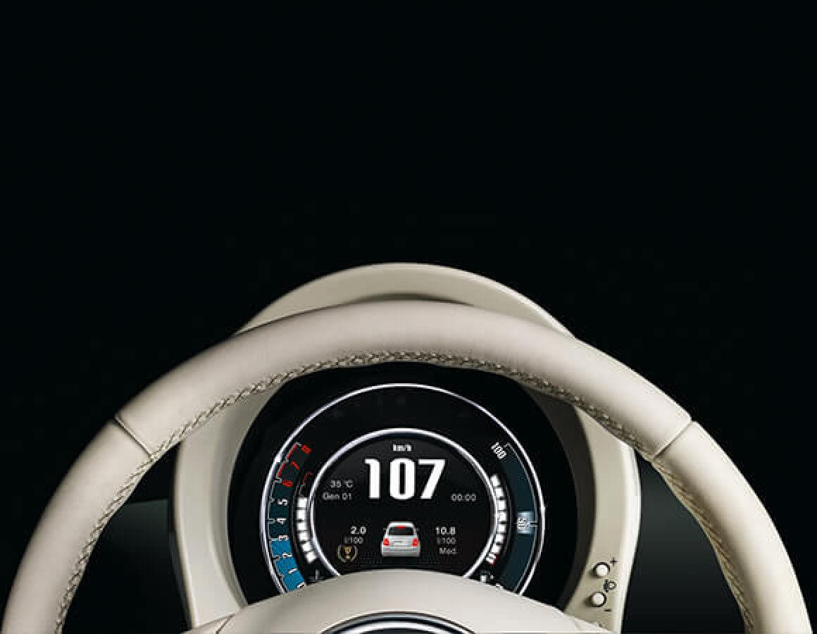 Fiat 500C contachilometri
