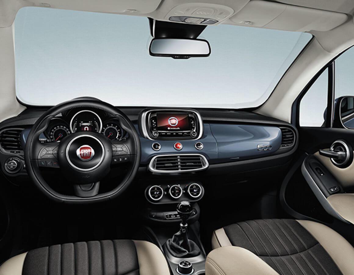 Fiat 500X  City Look marrone pastello anteriore